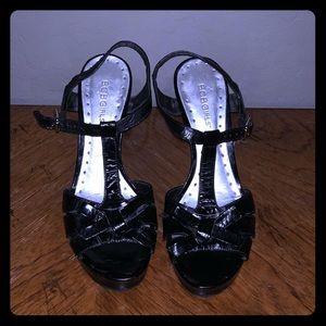 Black bcbg platform heels